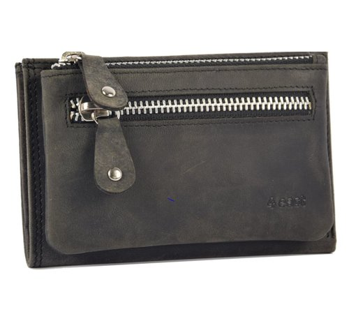 Discountershop Wallet anti-skim - Wallet buffalo leather - Wallet with 10 cards - Small wallet - wallet compact