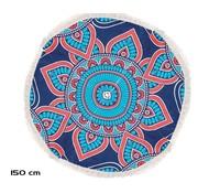 Merkloos Strandlaken rond 150 cm - Mandala strandlaken 150cm - Strandlaken - Verschillende kleuren