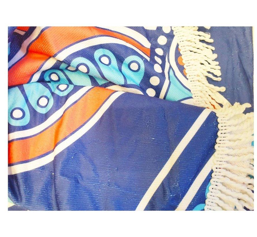 Standlaken rond 150 cm - Mandala strandlaken 150cm - Strandlaken - Verschillende kleuren