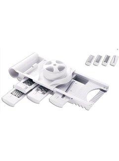 Discountershop 5-In-1 Kitchen Mandoline Cutter - Vegetable Cutter Grater - Kitchen Cutter Slicer -