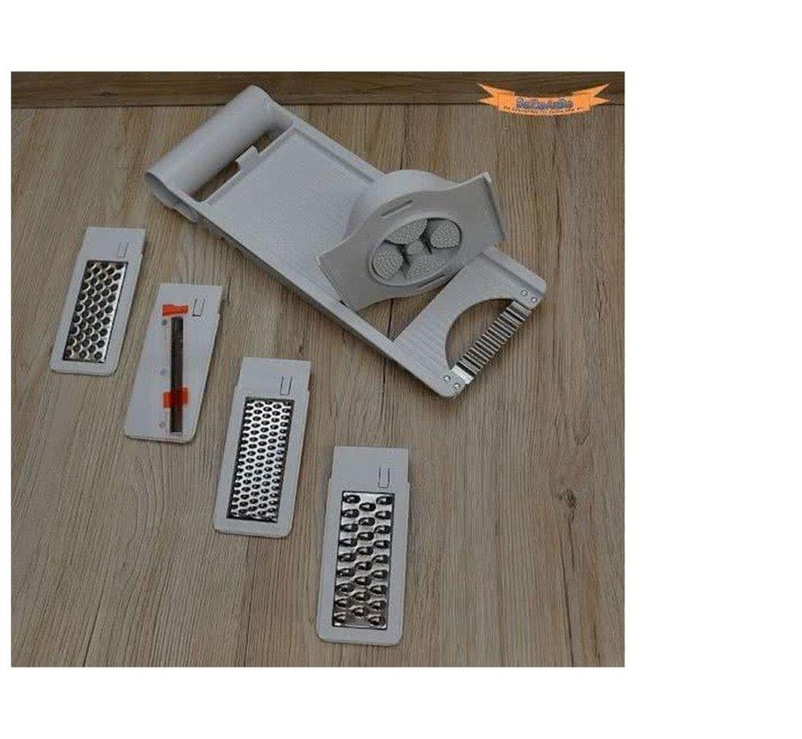 5-In-1 Kitchen Mandoline Cutter - Vegetable Cutter Grater - Kitchen Cutter Slicer -