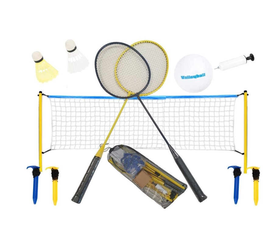 badminton set with volleyball Shuttles included - with net 310 x 168 cm