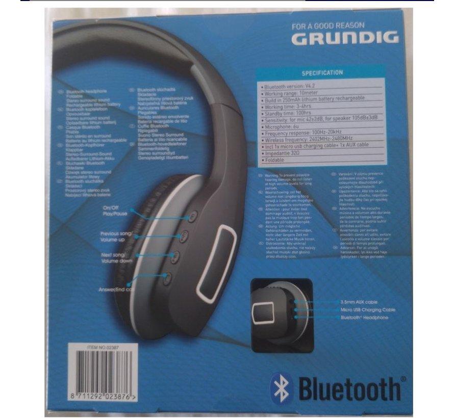 Pcsupply Grundig Bluetooth Kopteleffoon Zwart /grijs