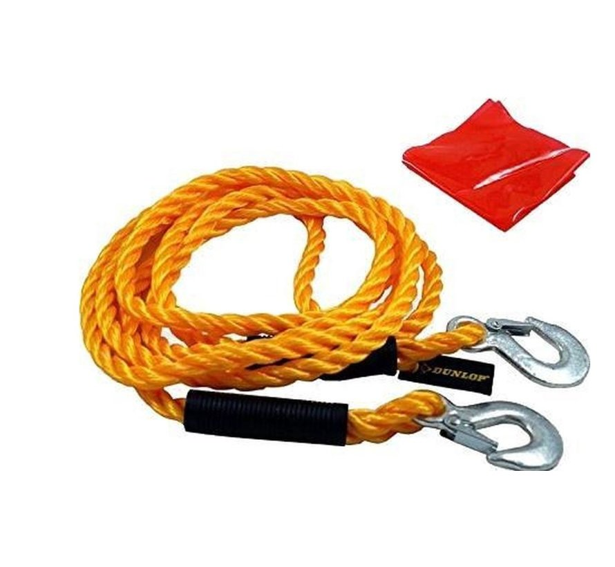 Dunlop Towing Cable 3 Ton 4 Meter Yellow