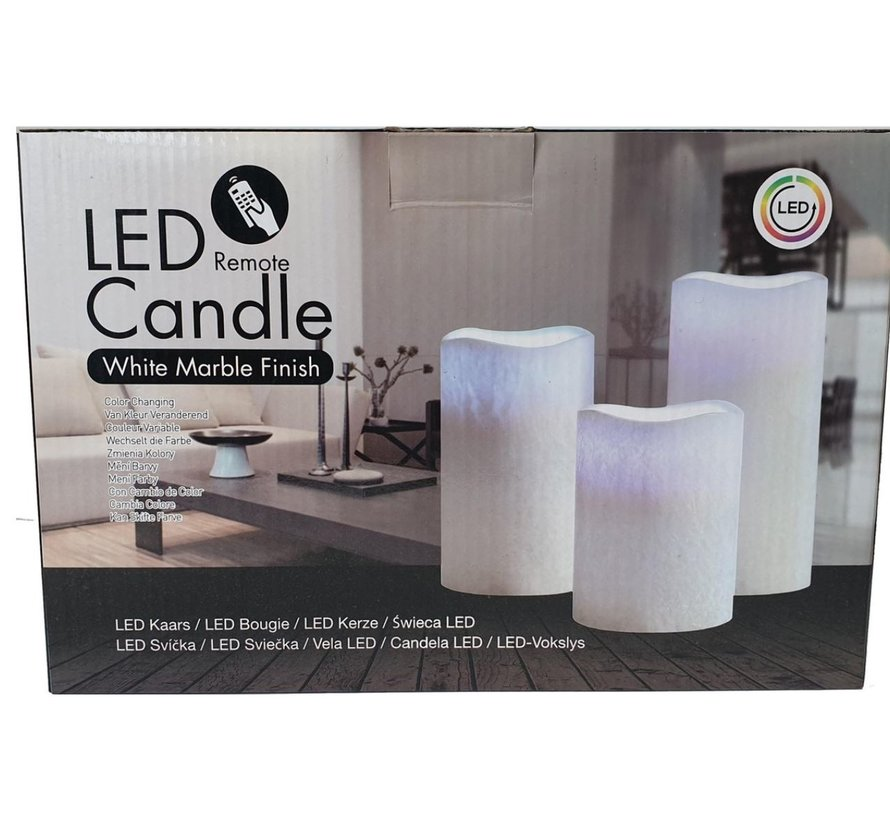 5 LED Candles SET 3 Pieces WITHOUT BATTERIES, Color Changing