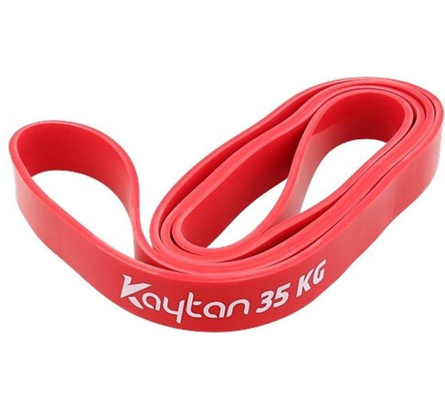 Kaytan Sports - Resistance band 35 kg - Elastische weerstandsband - Fitness elastiek - Rood