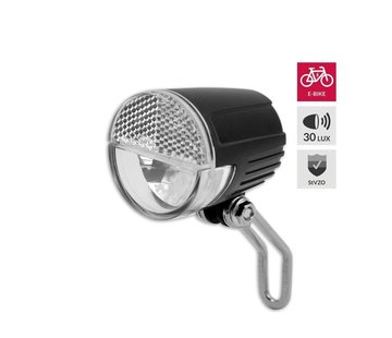Discountershop Bicycle headlight E-bike to see up to 60 meters and to be seen up to 3000 meters - 6-36V. Blister. StVZO