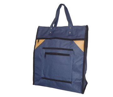 Discountershop Shopping Bag with Canvas Handles Blue