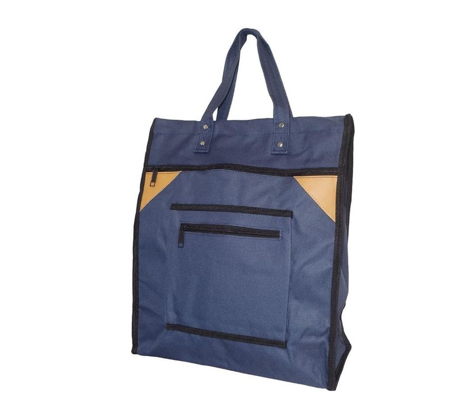 Shopping Bag with Canvas Handles Blue