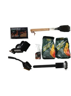 Discountershop Discountershop barbecue set cleaning and charcoal briquettes - firelighters - barbecue cleaning