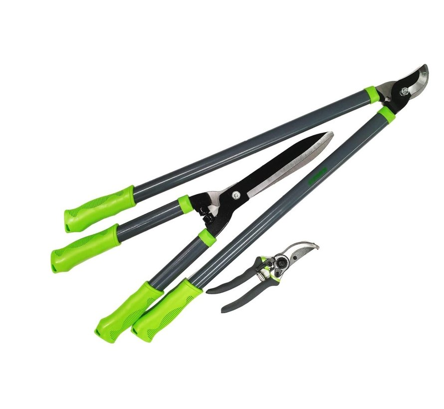 Pruning combiset - pruning shears, loppers and hedge trimmer in 1 set