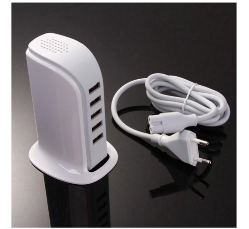 Discountershop USB HUB 5 Port 30W 6.0A strong - Samsung HTC Apple iPhone iPad Macbook Desk - Office charger