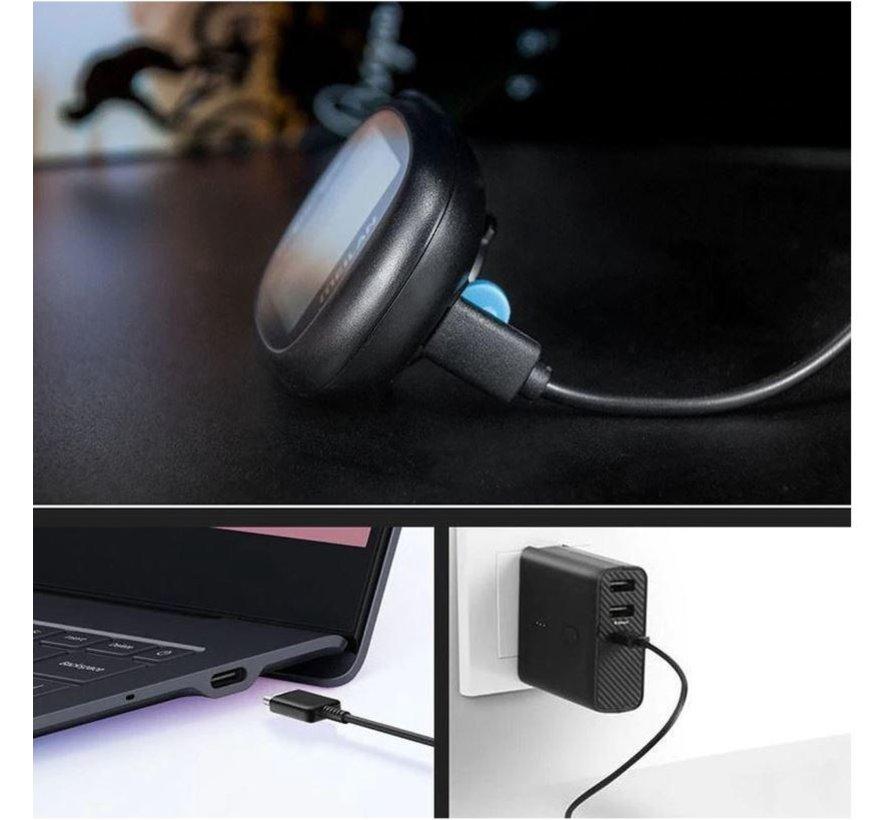 Discountershop - Fietscomputer IPX6 - USB oplaadbaar - Fietscomputer 1.6 inch mono LCD - Zwart