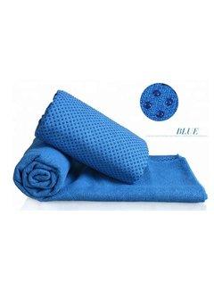 Discountershop Discountershop - Yoga towel Blue 183 x 61 cm with Antislip