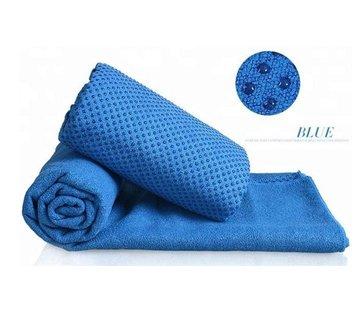 Discountershop Discountershop - Yoga handdoek Blauw 183 x 61 cm met Antislip