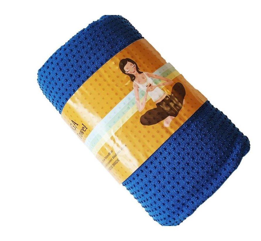 Discountershop - Yoga towel Blue 183 x 61 cm with Antislip