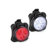 Merkloos Koplamp En Achterlicht Voor Fiets - Oplaadbare met USB - LED Lampje
