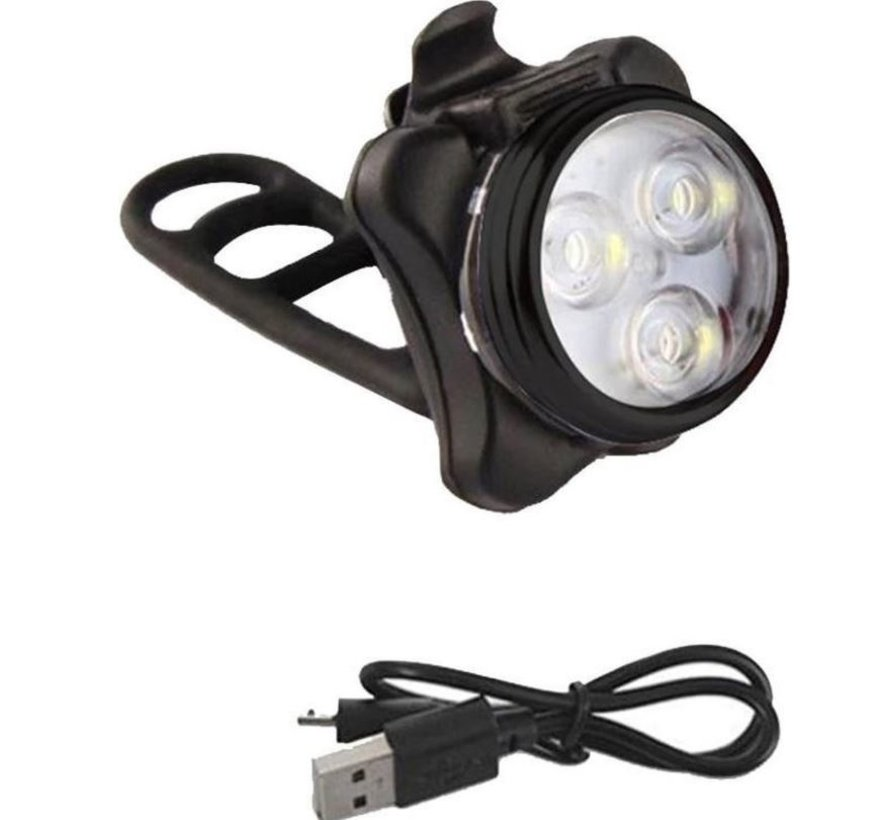 Headlight And Taillight For Bicycle - Rechargeable with USB - LED Light