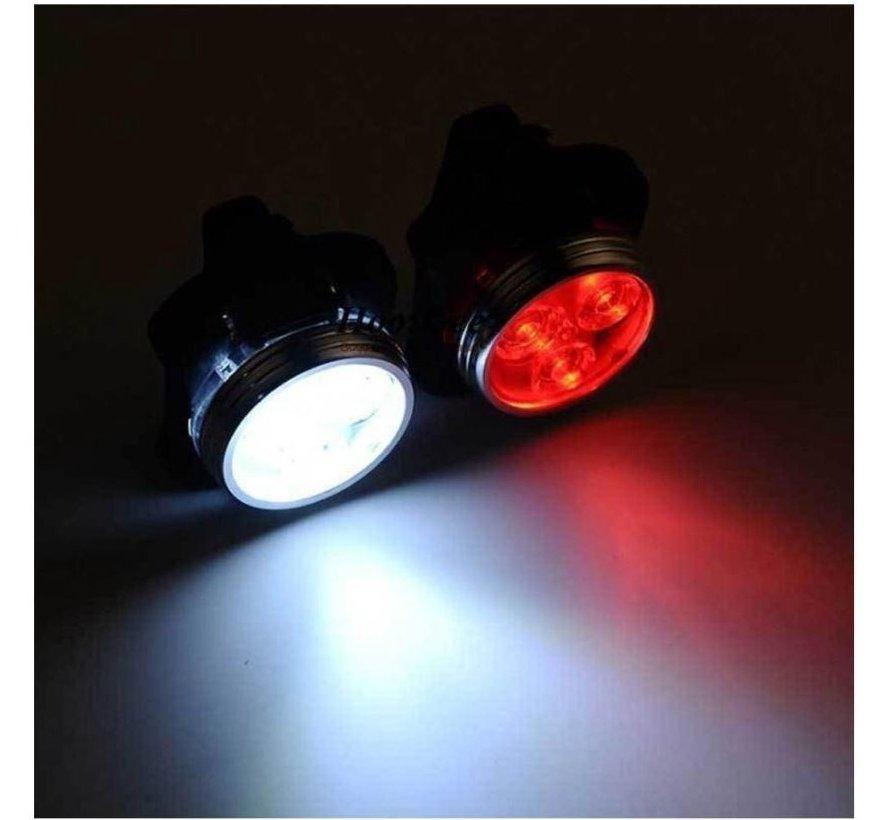 Koplamp En Achterlicht Voor Fiets - Oplaadbare met USB - LED Lampje