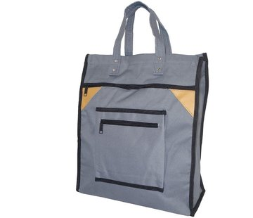 Discountershop Sturdy Shopping Bag Basic High Gray