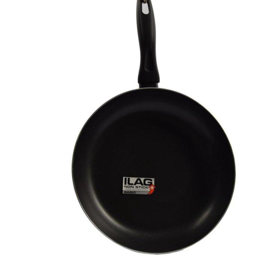 Keukenpan - Ø 28 cm - Luxe keukenpan van 28cm Anti-aanbaklaag - handvat zwart