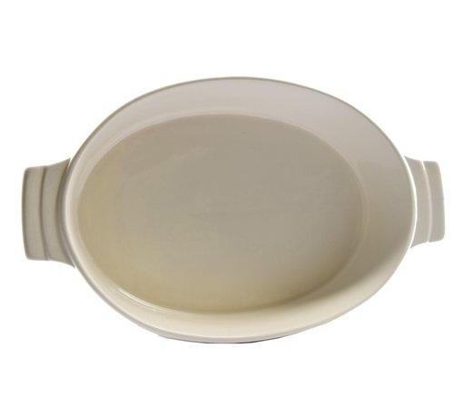 Discountershop Oven dish Oval oven dish ceramic white 30 cm