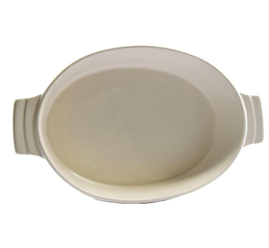 Ovenschaal Ovale ovenschaal keramiek wit 30 cm