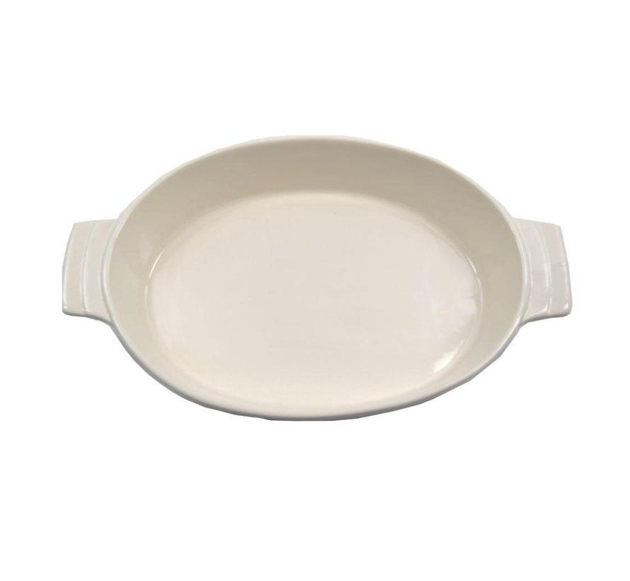 Oven dish Oval oven dish ceramic white 30 cm
