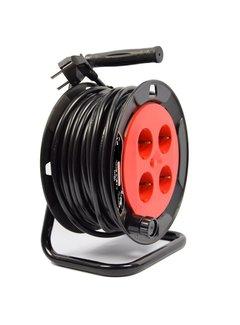 Discountershop Kabelhaspel - haspel - haspel 15 meter - kabelhaspel 250 volt | 3000 watt
