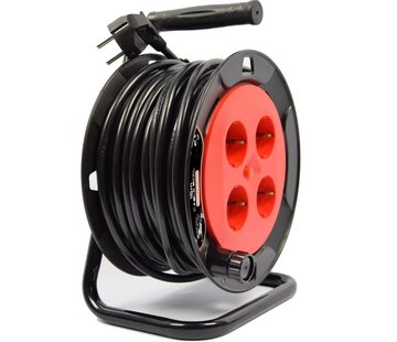 Discountershop Cable reel - reel - reel 15 meters - cable reel 250 volt | 3000 watts