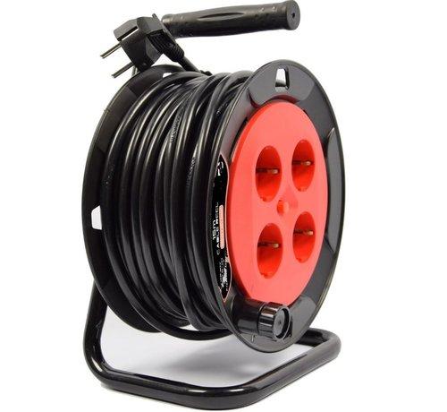 Discountershop Cable reel - reel - reel 15 meters - cable reel 250 volt   3000 watts