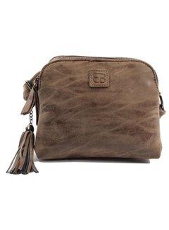 Discountershop Bicky Bernard Shoulder bag brown with 3 zippers - bag - bags - shoulder bag ladies - handbag - brown shoulder bag - shoulder bag girls -