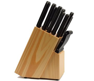 Discountershop 22 piece knife set with wooden holder Product width 10 cm