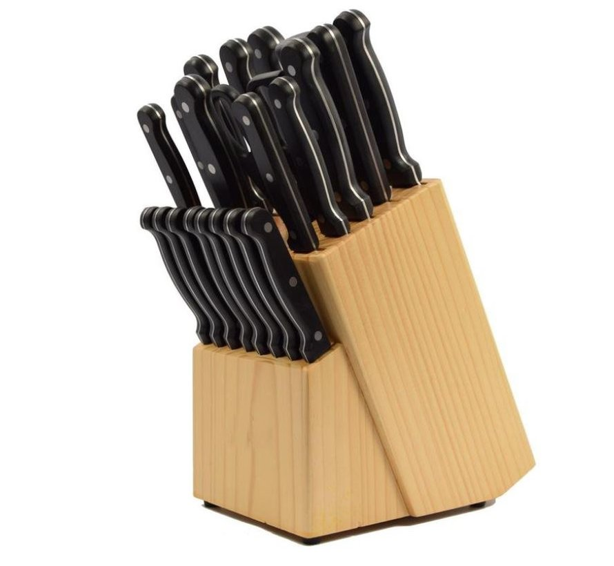 22 piece knife set with wooden holder Product width 10 cm