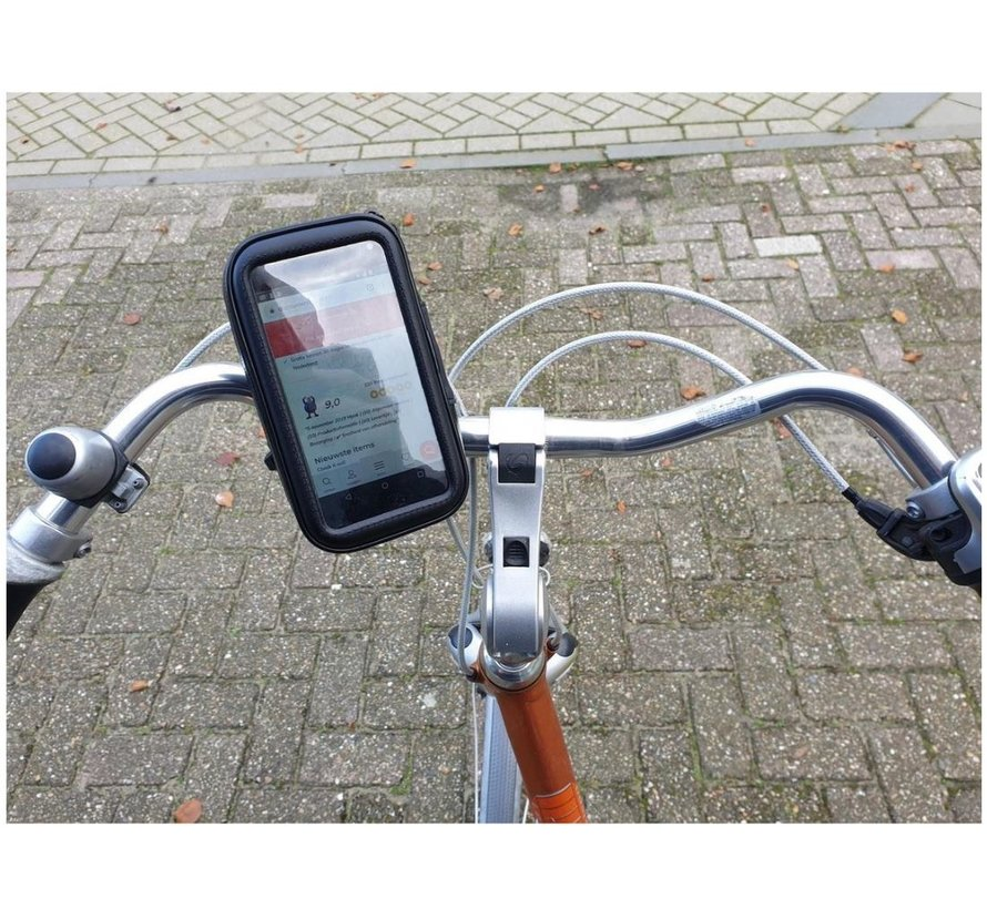 bicycle phone holder * NOTE 4 TO 5 INCH * - Universal - Waterproof - Size M