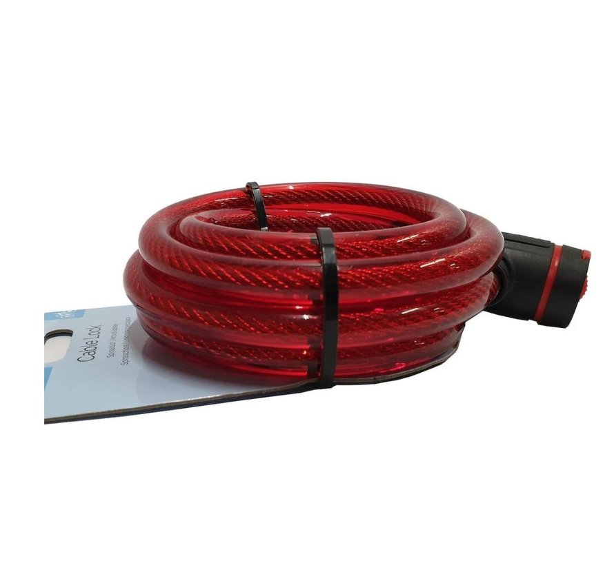 Bicycle lock - thick lock 12mm - Bicycle lock for your scooter - red
