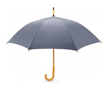 Discountershop Storm umbrella - Storm umbrella - Umbrella with wooden handle - Umbrella - Wooden Umbrella - Quality umbrella - GRAY