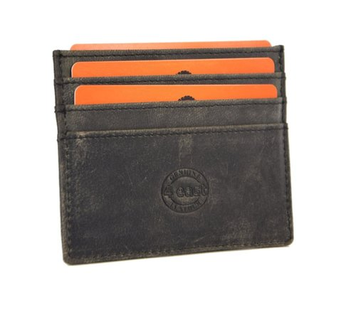 4East Card case - credit card holder with money - card holder with bills - card holder - credit card - 6 card holder. Width 105 mm Height 78 mm Material Buffalo leather