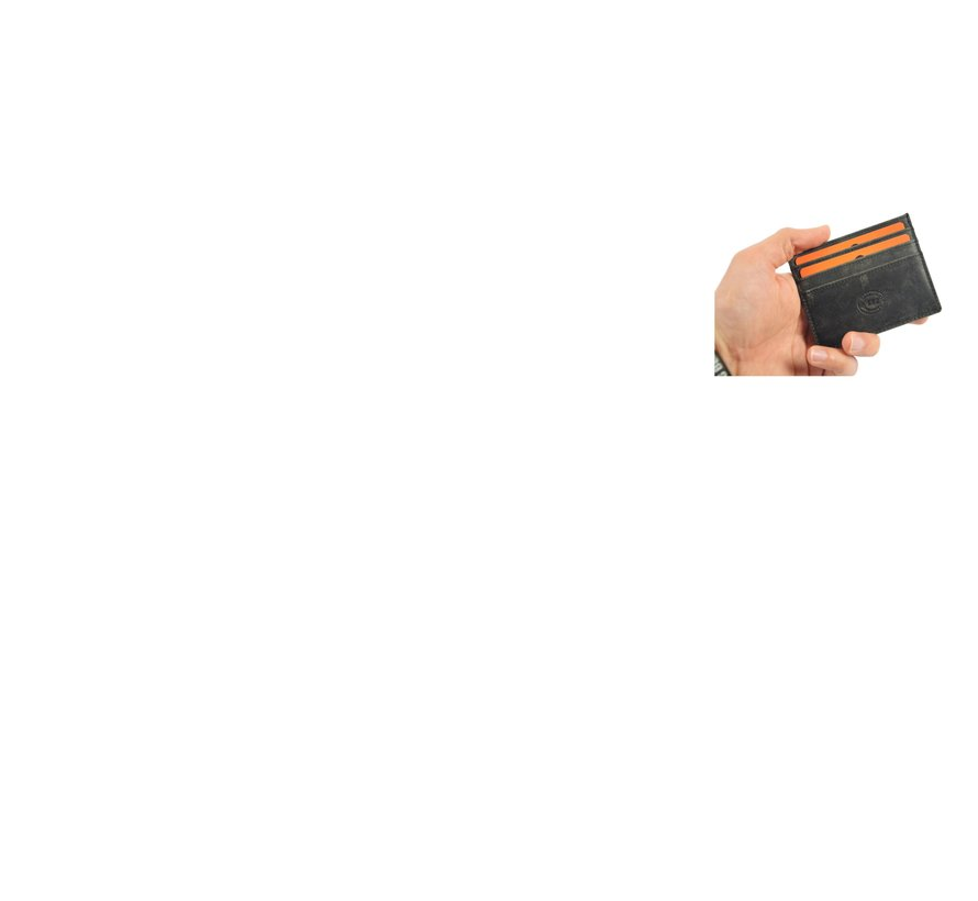 Card case - credit card holder with money - card holder with bills - card holder - credit card - 6 card holder. Width 105 mm Height 78 mm Material Buffalo leather