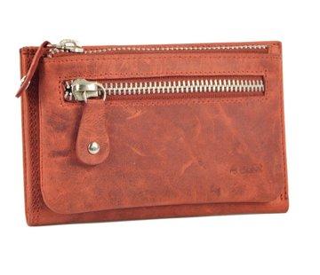 Discountershop Portemonnee anti- skim - Portemonnee buffelleer - Portemonnee met 10 pasjes - Kleine portemonnee - portemonnee compact