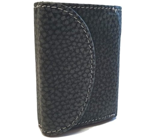 Discountershop Small buffalo leather wallet, very compact with small money, see cards section in the photos, cards can protrude small a bit.