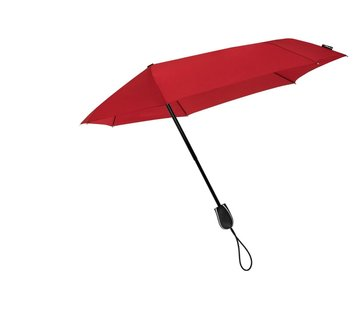 Discountershop Storm umbrella - Antistorm umbrella - Storm umbrella - STORMini Aerodynamic folding storm umbrella Red