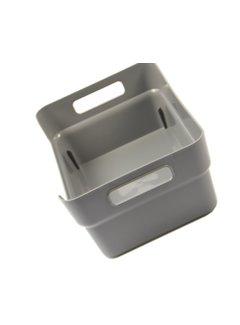 Discountershop Storage box - toolbox -24 x 17 x 10 cm - grey