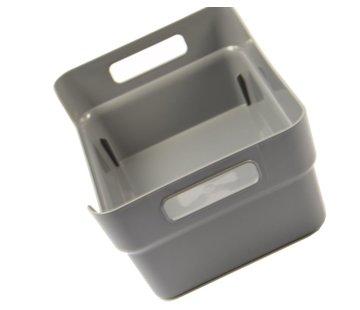 Discountershop Multibox - Gereedschapskist - Opbergbak 24 x 17 x 10 cm - Grijs
