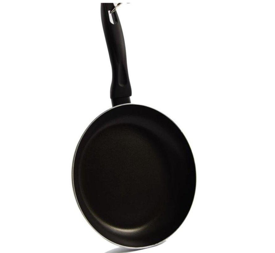 Pannen set zwart handvat 24cm 28 cm