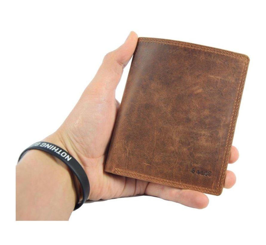 Genuine male wallet - Wallet with cards - Wallet with 14 cards - Men's wallet - double stitched wallet - Buffalo leather wallet - flat wallet - billfold wallet - RFID