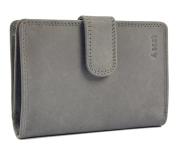 Discountershop Wallet with many cards buffalo leather - Wallet men - Wallet Gray - Wallet Quality - Unisex wallet - Gray