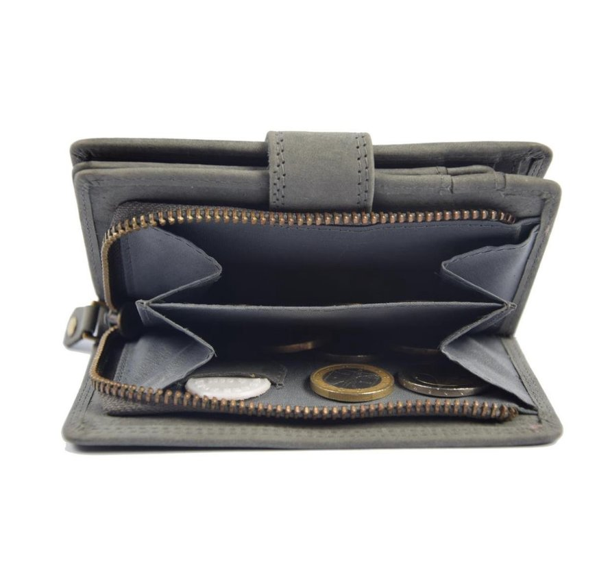 Wallet with many cards buffalo leather - Wallet men - Wallet Gray - Wallet Quality - Unisex wallet - Gray