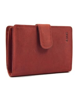 Discountershop Portemonnee buffelleer- portemonnee met veel pasjes - Portemonnee heren - Portemonnee - Portemonnee Kwaliteit - Unisex portemonnee - Rood