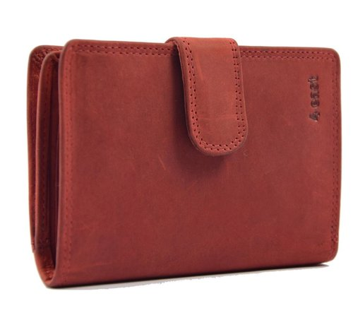 Discountershop Wallet buffalo leather - wallet with many cards - Wallet men - Wallet - Wallet Quality - Unisex wallet - Red